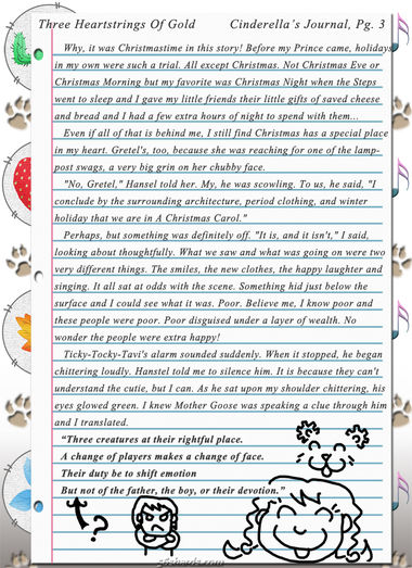 """Three Heartstrings Of Gold"" 11: Cinderella's Journal, Pg. 3"