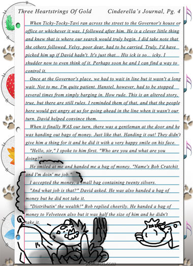 """Three Heartstrings Of Gold"" 14: Cinderella's Journal, Pg. 4"