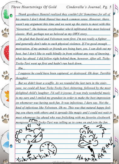 """Three Heartstrings Of Gold"" 17: Cinderella's Journal, Pg. 5"