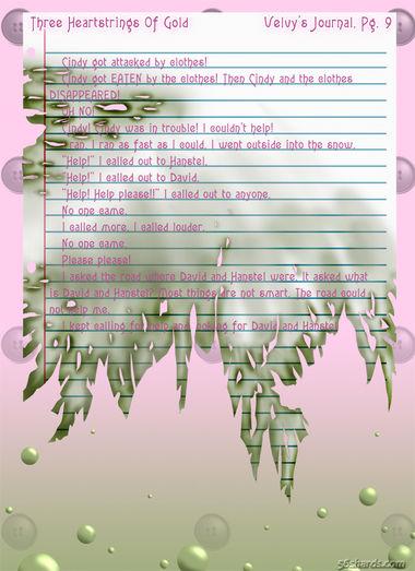 """""""Three Heartstrings Of Gold"""" 38: Velvy's Journal, Pg. 9"""