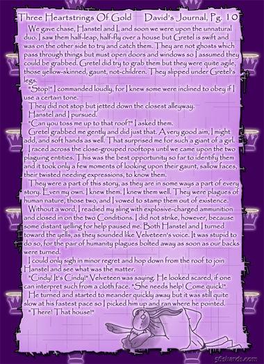 """Three Heartstrings Of Gold"" 39: David's Journal, Pg. 10"