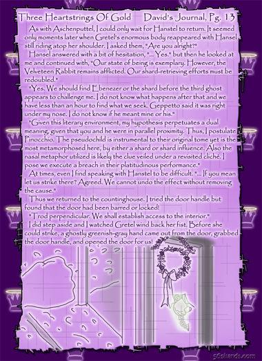 """Three Heartstrings Of Gold"" 54: David's Journal, Pg. 13"