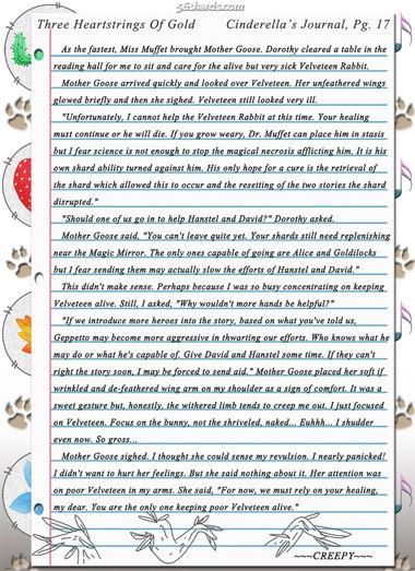 """Three Heartstrings Of Gold"" 55: Cinderella's Journal, Pg. 17"