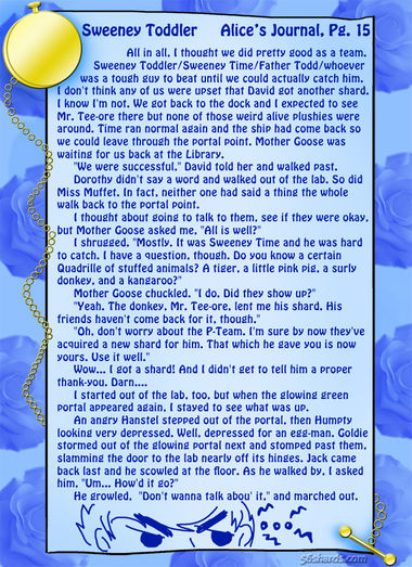"""Sweeney Toddler"" 52: Alice's Journal, Pg.15"