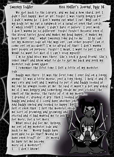 """Sweeney Toddler"" 53: Miss Muffet's Journal, Pg.14"