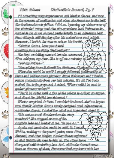"""""""Mein Schnee"""" 3: Cinderella's Journal, Pg.1"""