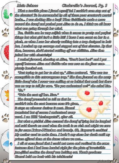 """""""Mein Schnee"""" 22: Cinderella's Journal, Pg.5"""