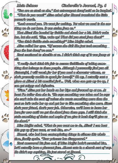 """""""Mein Schnee"""" 25: Cinderella's Journal, Pg.6"""