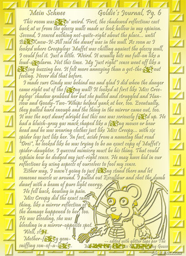 """Mein Schnee"" 38: Goldie's Journal, Pg.6"