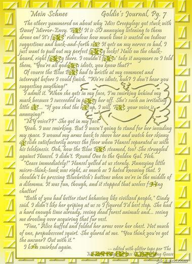"""""""Mein Schnee"""" 43: Goldie's Journal, Pg.7"""