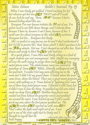 """""""Mein Schnee"""" 73: Goldie's Journal, Pg.15"""