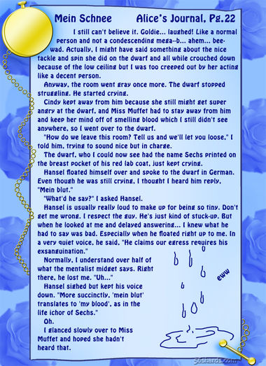 """Mein Schnee"" 98: Alice's Journal, Pg.22"