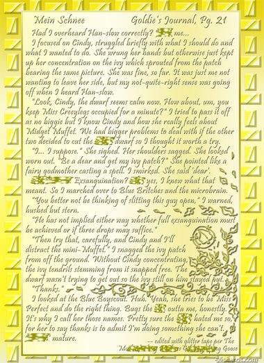 """Mein Schnee"" 99: Goldie's Journal, Pg.21"