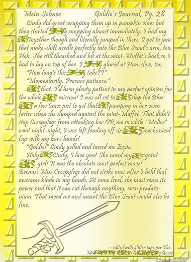 """Mein Schnee"" 127: Goldie's Journal, Pg.28"
