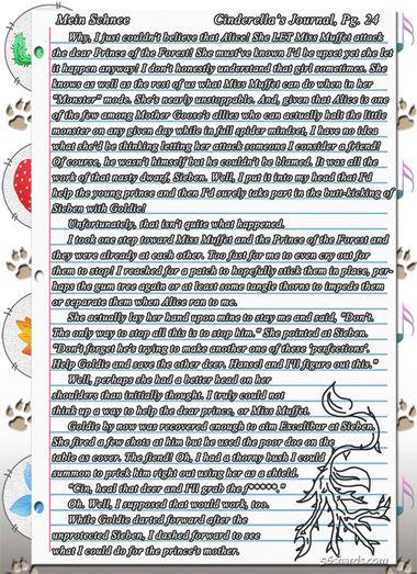 """""""Mein Schnee"""" 129: Cinderella's Journal, Pg.24"""