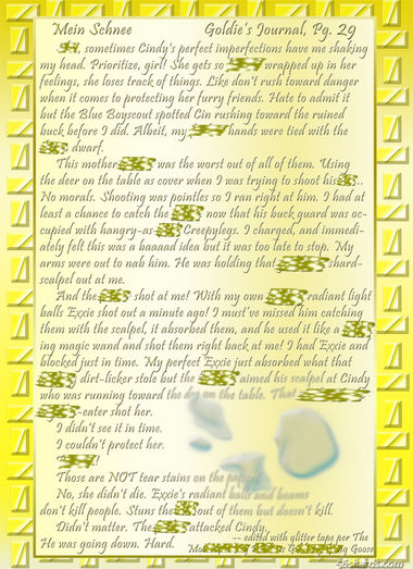 """Mein Schnee"" 130: Goldie's Journal, Pg.29"