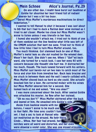 """""""Mein Schnee"""" 132: Alice's Journal, Pg.29"""