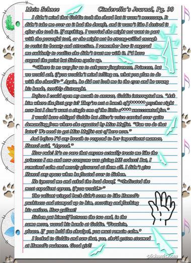 """""""Mein Schnee"""" 151: Cinderella's Journal, Pg.30"""