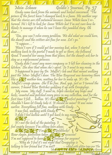 """Mein Schnee"" 171: Goldie's Journal, Pg. 37"