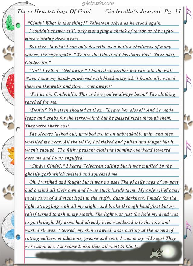 """Three Heartstrings Of Gold"" 37: Cinderella's Journal, Pg. 11"