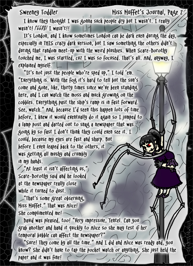 """Sweeney Toddler"" 9: Miss Muffet's Journal, Pg. 2"
