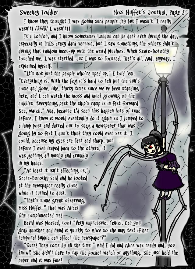 """Sweeney Toddler"" 9: Miss Muffet's Journal, Pg. 2"
