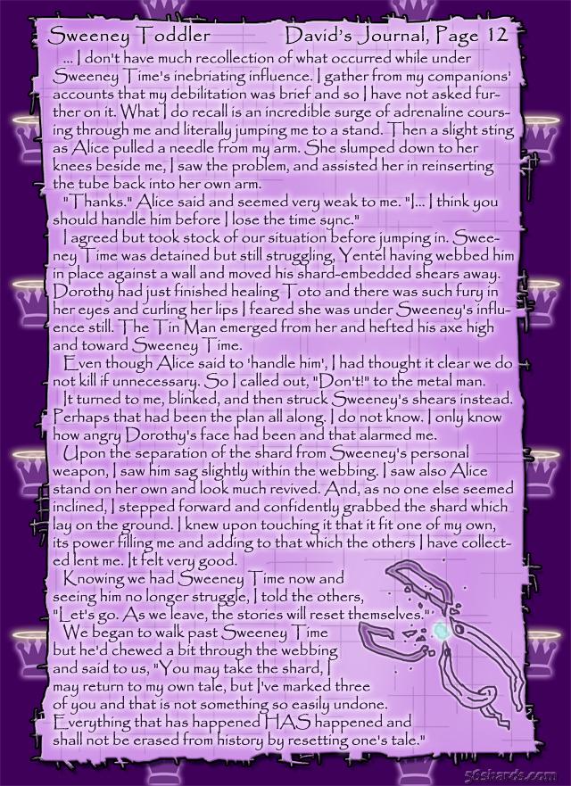 """Sweeney Toddler"" 50: David's Journal, Pg. 12"