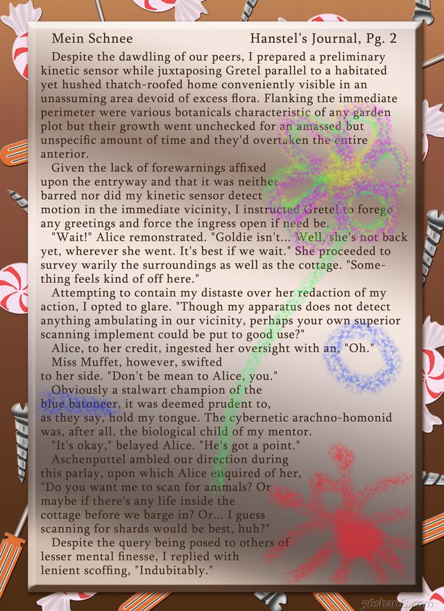 """""""Mein Schnee"""" 7: Hanstel's Journal, Pg.2"""