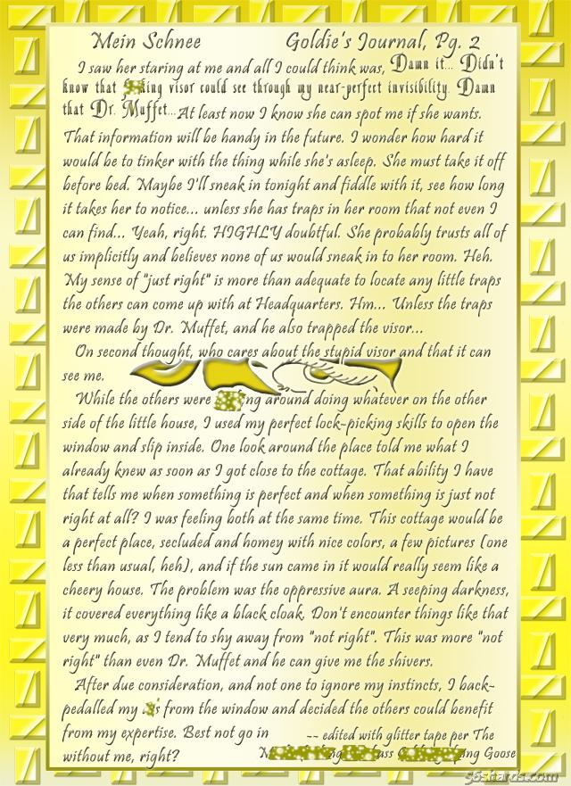"""""""Mein Schnee"""" 9: Goldie's Journal, Pg.2"""
