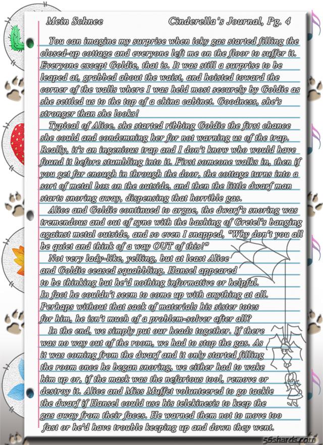 """""""Mein Schnee"""" 16: Cinderella's Journal, Pg.4"""