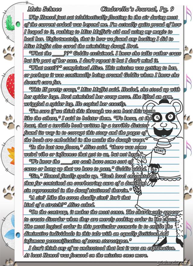 """""""Mein Schnee"""" 40: Cinderella's Journal, Pg.9"""