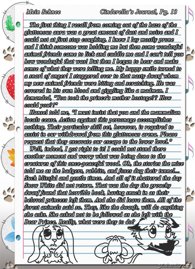 """""""Mein Schnee"""" 68: Cinderella's Journal, Pg.13"""