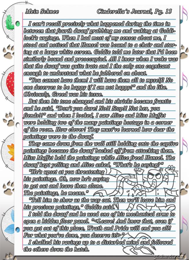 """""""Mein Schnee"""" 86: Cinderella's Journal, Pg.15"""
