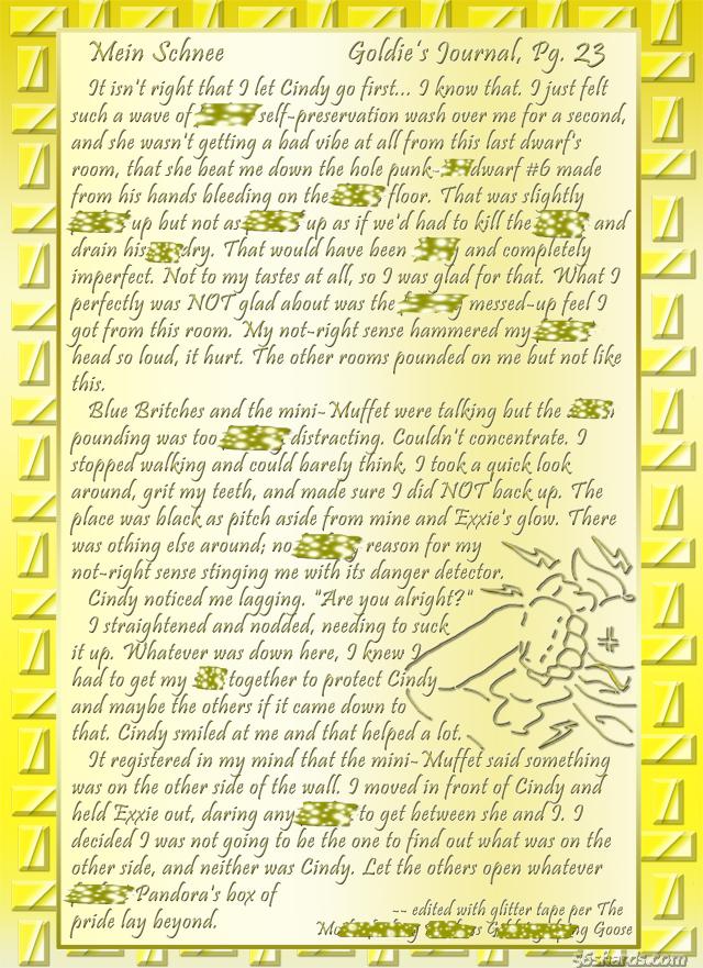 """""""Mein Schnee"""" 108: Goldie's Journal, Pg.23"""