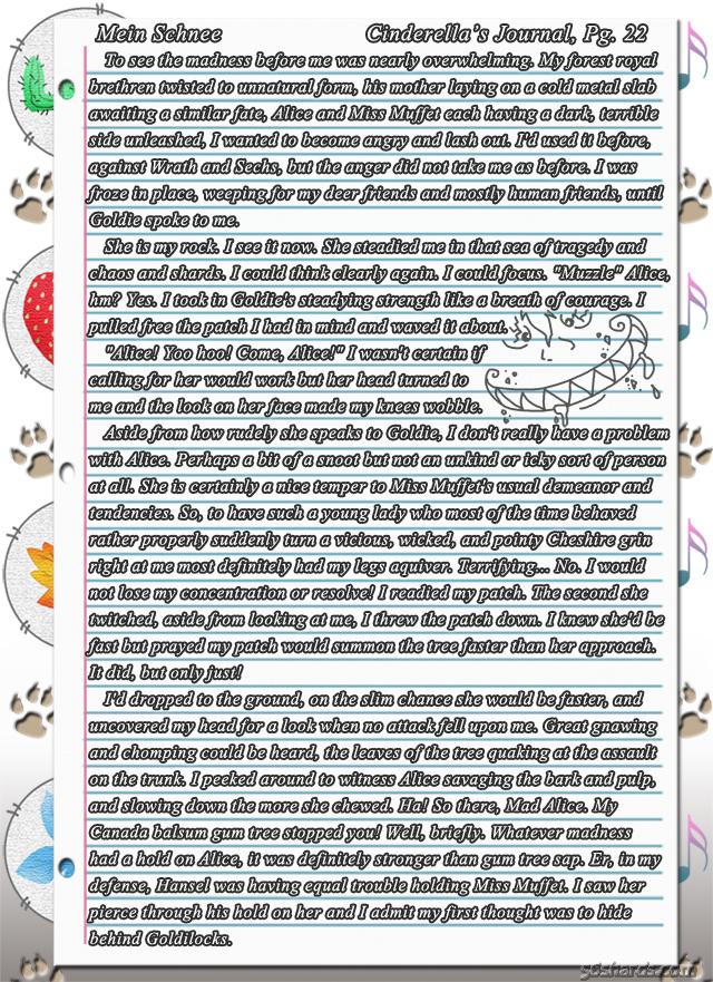 """""""Mein Schnee"""" 119: Cinderella's Journal, Pg.22"""
