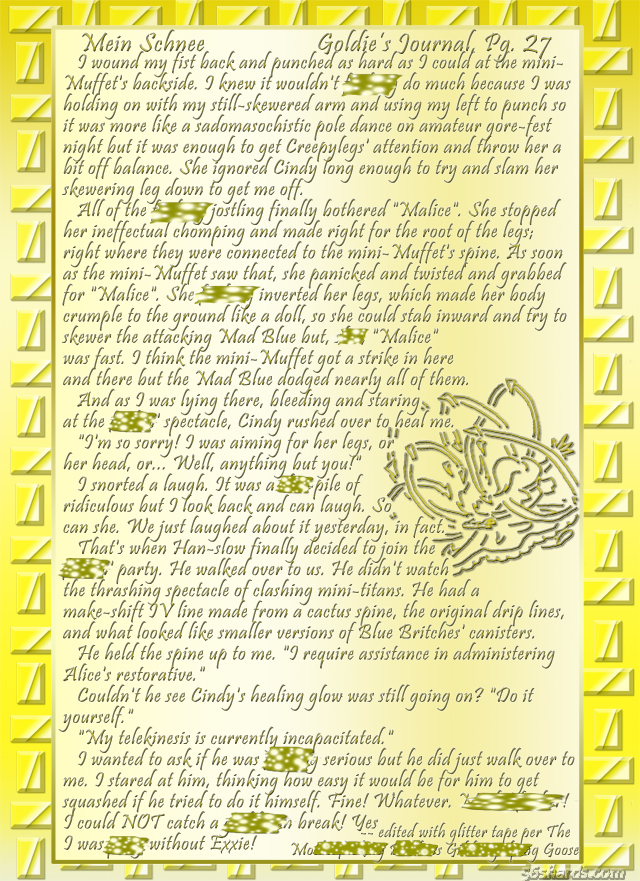 """Mein Schnee"" 125: Goldie's Journal, Pg.27"