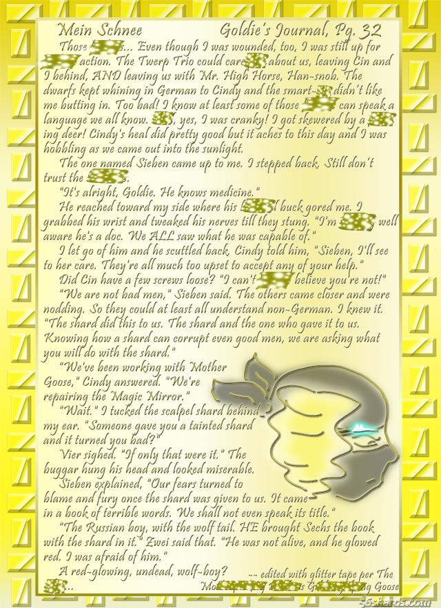 """""""Mein Schnee"""" 156: Goldie's Journal, Pg.32"""